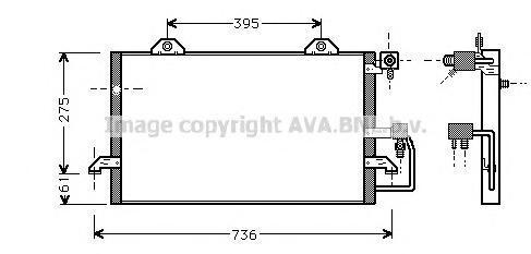 AI5121 Конденсер AUDI 80 1.6-2.8 91-95