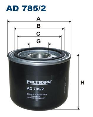 AD7852 Фильтр осушителя пневмосистемы DAF СА65/75/85 01-