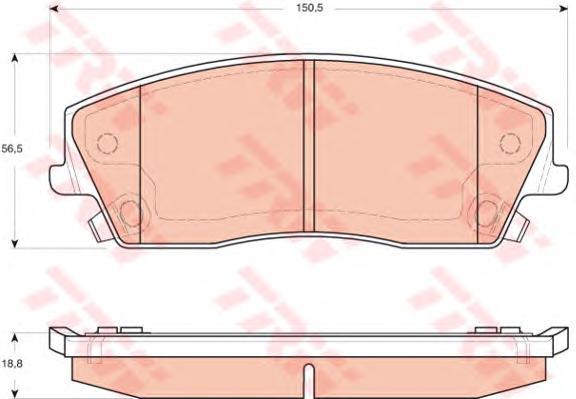 GDB4140 Колодки тормозные CHRYSLER 300C 04- передние