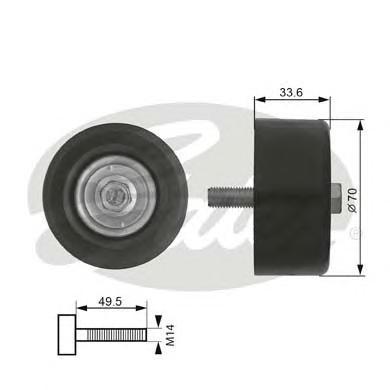 T36174 Ролик ремня приводного TOYOTA LAND CRUISER 120/150 4.0