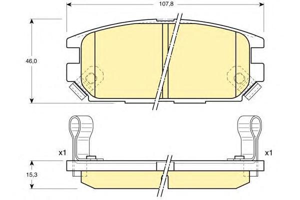 6131999 Колодки тормозные MITSUBISHI GALANT 92-96/LANCER 94-03/SPACE WAGON 98- задние