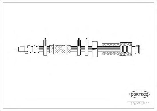 19025841 Шланг тормозной CITROEN: JUMPER c бортовой платформой 1.9 TD/2.0/2.5 D/2.5 D 4x4/2.5 TD/2.5 TDi/2.5 TDi 4x4/2.8 HDi 94-