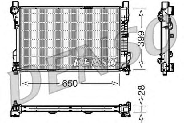 DRM17080 Радиатор MB W203 1.8-3.5/2.0D/2.2D 00-