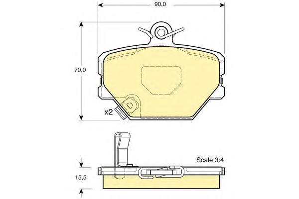 6113654 Колодки тормозные SMART 98- передние