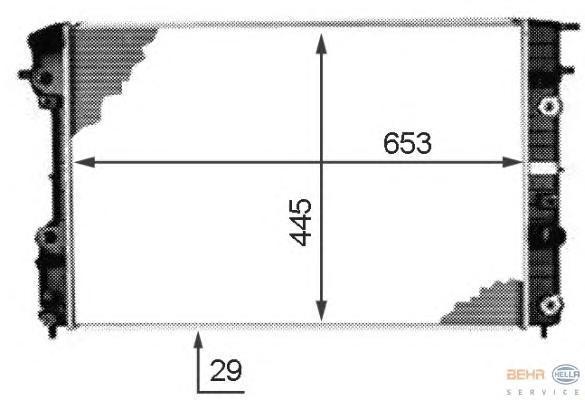 8MK376718671 Радиатор системы охлаждения OPEL: OMEGA B (25_, 26_, 27_) 2.5 V6/2.6 V6/3.0 V6/3.2 V6 94-03, OMEGA B универсал (21_