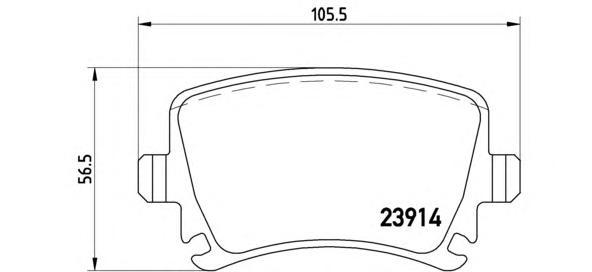 P85073 Колодки тормозные VOLKSWAGEN TOURAN 03/CADDY/G5/G6 задние