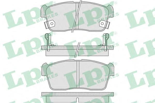 05P796 Колодки тормозные SUZUKI IGNIS 00/ALTO 02- с индикат.износа передние