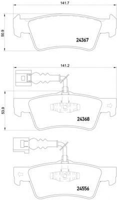 8DB355012441 Колодки тормозные VOLKSWAGEN TOUAREG 02-10 задние с датч.