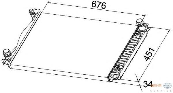 8MK376790141 Радиатор системы охлаждения AUDI: A6 (4F2) 3.0 TDI QUATTRO 04-