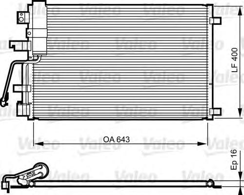814010 Конденсер NISSAN QASHQAI 2.0D 07-