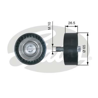 T36464 Ролик ремня приводного MB 2.2CDI 06-