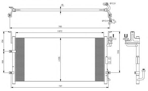 35917 Конденсер HY Sonata 02-