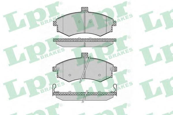 05P1374 Колодки тормозные HYUNDAI ELANTRA/MATRIX 1.5-2.0 00- передние