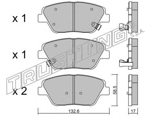 9610 К-т торм. колодок Fr HY Sonata 09-