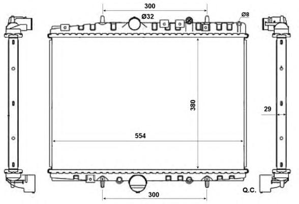 58303 Радиатор PSA C5, 406, 607 2.0/2.0HDi 98-04