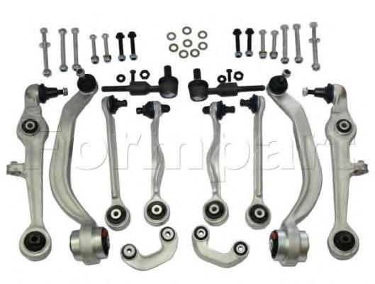 1105076 Комплект рычагов подвески с наконечниками и тягами стабилазатора передней оси AUDI: A4 11/00-12/04