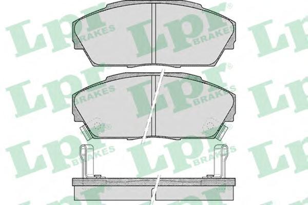 05P555 Колодки тормозные HONDA ACCORD 2.0 85-89/PRELUDE 2.0 86-92 передние