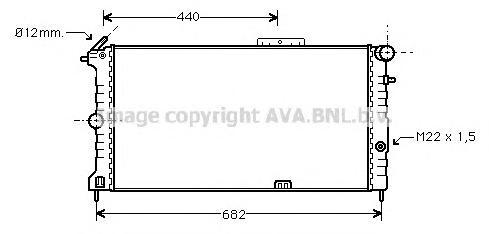 OLA2190 Радиатор OPEL VECTRA A 1.4-2.0/1.7D M/T 89-99
