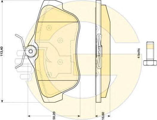 6117401 Колодки тормозные CITROEN JUMPY/FIAT SCUDO/PEUGEOT EXPERT 07- задние