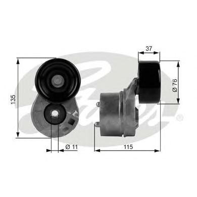 T38431 Натяжитель ремня приводного FORD TRANSIT 2.4D 00-06