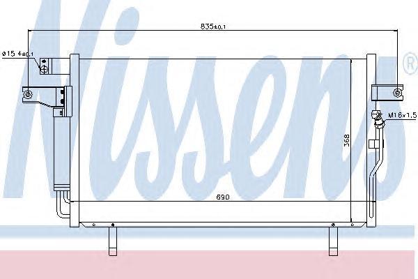 94936 Конденсер NISSAN PATHFINDER 3.5 97-