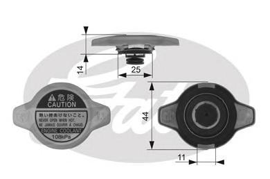 RC134 Крышка радиатора PSA, LEX, MA, SU, TO
