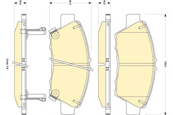 6134939 Колодки тормозные HONDA JAZZ 09- передние