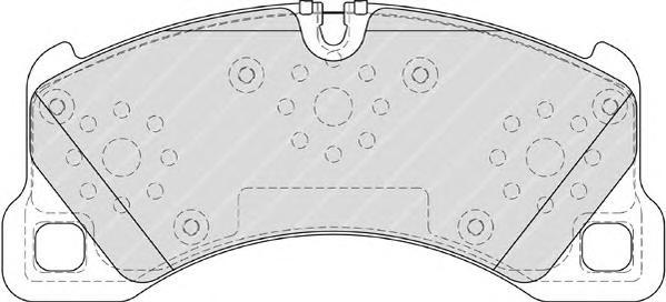 FDB4064 Колодки тормозные PORSCHE CAYENNE 07-08/VW TOUAREG (1LT/1LU) 03-10 передние