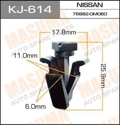 KJ614 Клипса NISSAN
