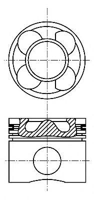 8713640700 Поршень MB C(W203)/E(W211)/VITO(W639) OM646-648 0,5mm(комплект)