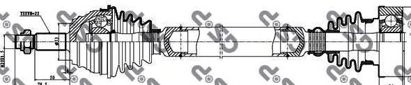 261002 Привод в сборе VW GOLF III/PASSAT III-IV 1.6-2.0 прав.