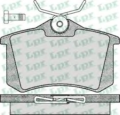 05P294 Колодки тормозные AUDI A4/A6/RENAULT SCENIC/VW GOLF 2/3/PASSAT задние