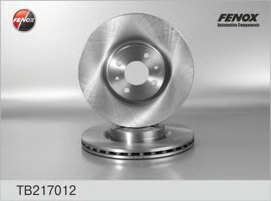 TB217012 Диск тормозной FIAT 500 08-/BRAVO 07-/DOBLO 01-/STILO 01- передний