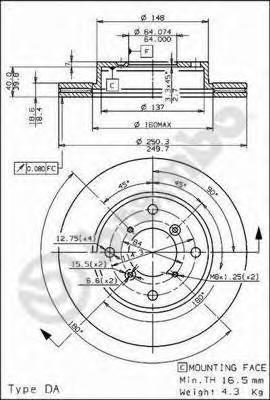 09690510 Тормозной диск