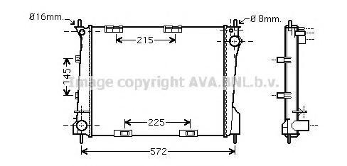 RT2371 Радиатор RENAULT CLIO 1.2-1.6/1.5D 05-