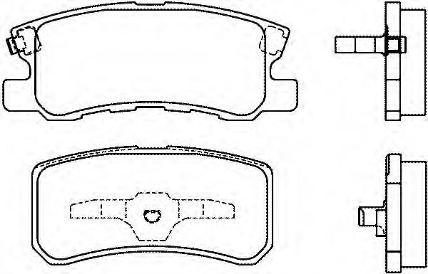 4605A448 Колодки тормозные задние Pajero4  3.0 к-т б/кр