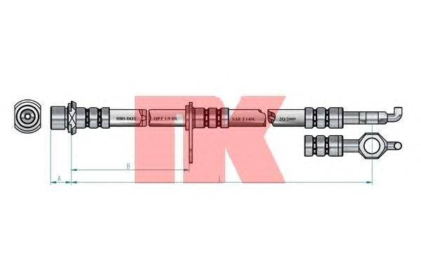 854538 Шланг тормозной TOYOTA COROLLA 92-02 передний левый