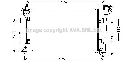 TO2323 Радиатор TOYOTA AVENSIS 1.4-1.8 02-