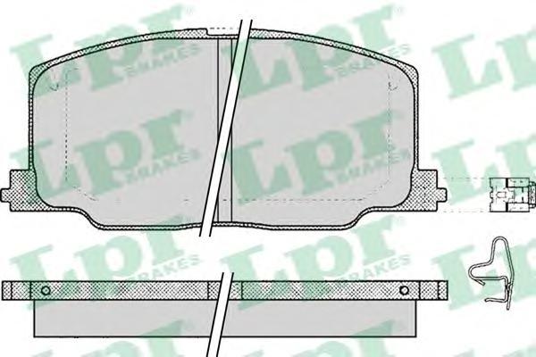 05P068 Колодки тормозные TOYOTA CAMRY/CARINA/CELICA 86-94 передние