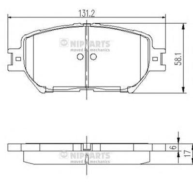 J3602099 Колодки тормозные TOYOTA CAMRY (_V30_) 2.4/3.0 0104 передние