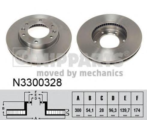 N3300328 Диск тормозной KIA CARNIVAL 06- передний вент.D=300мм.