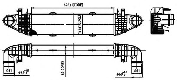30314 Интеркулер MB W204,S204,W212