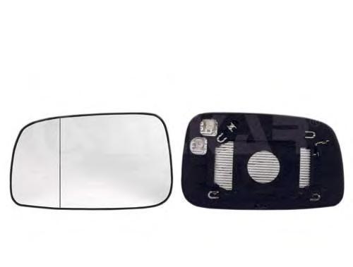 6431265 Стекло зеркала левого c подогревом, сферическое