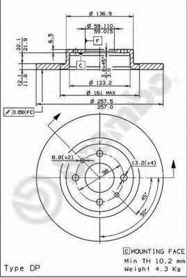 14139e Тормозной диск