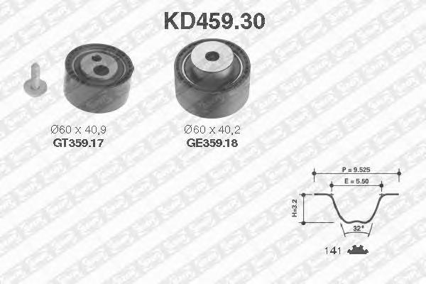 KD45930 pем.к-кт ГPМ! Peugeot 206 307 406 2.0HD