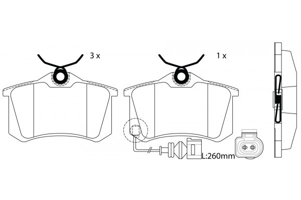 SP1391 Колодки тормозные SKODA OCTAVIA/PEUGEOT 307/RENAULT MEGANE/SCENIC задние