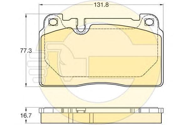 6120225 Колодки тормозные AUDI Q5 13- передние
