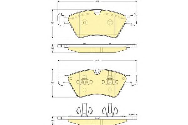 6116422 Колодки тормозные MERCEDES W164 (ML)/X164 (GL)/W211/W251 04 передние