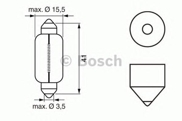 1987302229 Комплект ламп накаливания 10шт в упаковке 12V 18W SV8.58 Pure Light (стандартные характеристики)