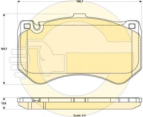 6119079 Колодки тормозные MERCEDES C218/W212/W222 63 AMG передние